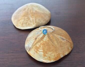 Australian Opal Oval Ring in Silver