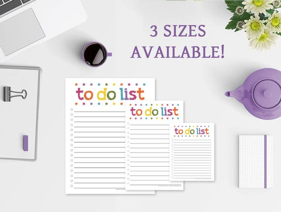 Colorful Lights To Do List Notepad