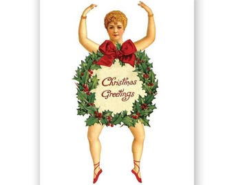 Christmas Paper Doll Card Set of 12