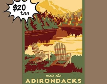 Visit the Adirondacks T-Shirt by Catherine LaPointe