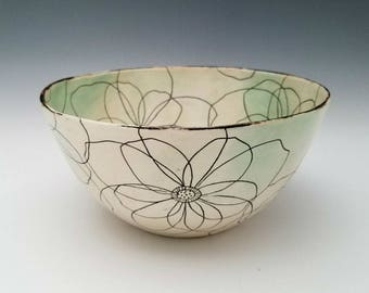 Bloom Bowl Ceramic Bowl Large Serving Bowl Centerpiece Bowl Pasta Bowl Salad Bowl