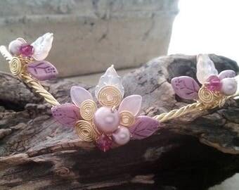 ON SALE Pink Fairy Tiara Princess Nadia Circlet Crown