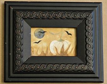 Pumpkin, Moon, Crows, Ravens, Paper Cutting, Papercutting, Paper Art, Fall, Autumn, Halloween Decor