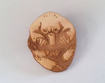 Echidna Brooch Wearable Art - Australian Animal Art Puggle