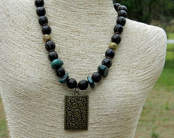 Buri Seed Beaded Necklace