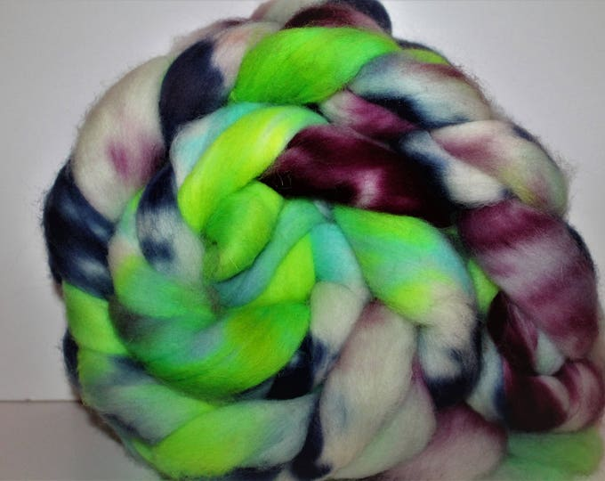 Kettle Dyed Cheviot Wool Top.  Easy to spin.  Great for felting. 1lb. Braid. Spin. Felt. Roving. C106