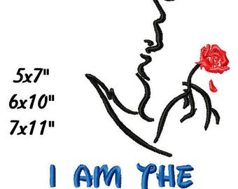 I am The B Machine Embroidery Sketch Fill Stitch Pattern shirts bags projects 5x7 6x10 7x11 INSTANT DOWNLOAD