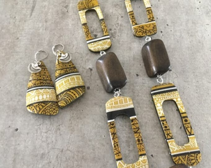 long polymer clay neckace - new collection