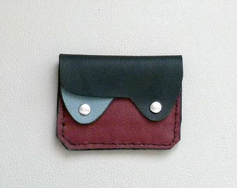 Earth Colors Leather  Wallet, Minimalist Leather Wallet, Small Leather Wallet