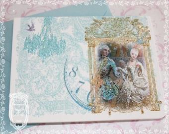 Marie Antoinette Danse de Versailles Set of Six Baroque Notecards and Seals