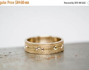 ON SALE Size 10 Textured Mens Bronze Ring Band Ready to Ship