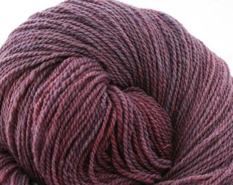 Mohonk Light Hand Dyed fingering weight NYS Wool 550yds 4oz Grape Hyacinth