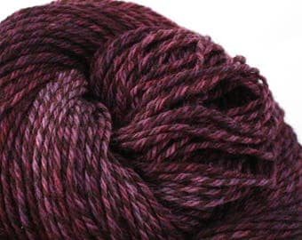 Rockwell Hand Dyed DK weight Wool 280 yds 4oz Tatses Like Purple