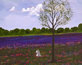 Spring Clover Schnauzer dog print by Todd Young