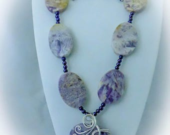 Amethyst Necklace, Earrings, and Pendant  Set