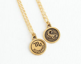 Scorpio Necklace - Personalized Zodiac Necklace - Custom Zodiac Jewelry -  Astrology Pendant - Gift For Daughter
