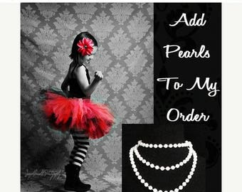 "SUMMER SALE 20% OFF 48"" Faux Pearl Necklace - Add To My Tutu Order"
