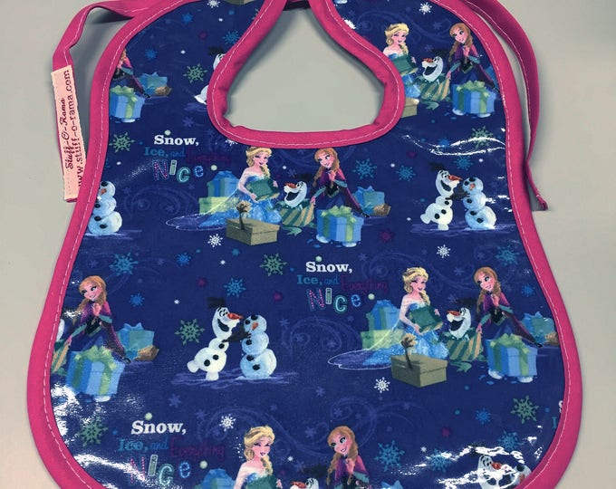 Wipeable Baby Bibs - Frozen