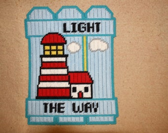 Lighthouse fence wall hanging