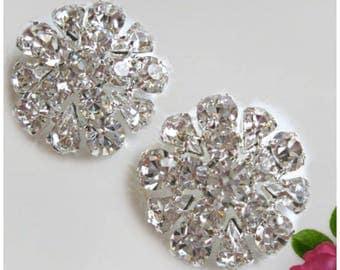 """Wedding jewelry, Crystal flower, Stud Earrings, Rhinestone post, Bridesmaids earrings, Vintage Style, Bridal Earrings, """"Vintage Romance"""""""