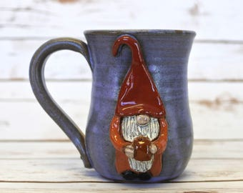 Coffee Drinking Gnome Mug