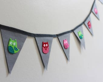 Owl Bunting - Little Owl Bunting - Woodland Bunting - Grey Bunting - Ready to ship