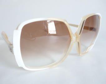 Vintage WHITE Frame Italian NOS Orig 1960s Sunglasses ITALY Deadstock Unused Vintage Glasses Eyewear S61