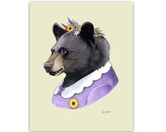 Mama Black Bear art print by Ryan Berkley 11x14
