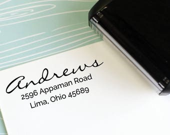 Handwriting Address Stamp - Self Inking Return Address Stamp - rubber stamp - Custom and Personalized Stamp, Housewarming gift