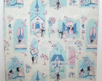 Vintage Gift Wrap - Vintage Wrapping Paper - Wedding - Marriage - Mid Century