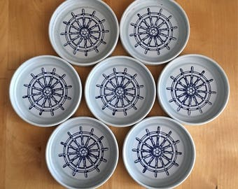 Vintage Nautical Metal Coasters