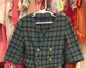 Plaid Suit Coat 18/24 Months