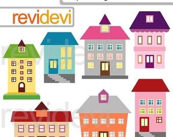 35 % OFF vente bâtiments clipart - bâtiments Simple clip utilisation commerciale art - bâtiment de l'école, maison - clipart numérique - Téléchargement instantané-