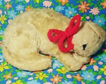 Vintage Sleepyhead Knickerbocker Kitty Plush Toy