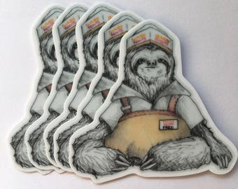 Sloth Fred the Dounut Man Cosplay Sticker