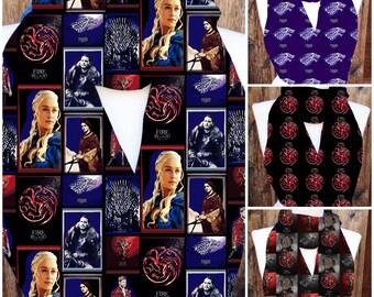 Game of Thrones scarf, GOT scarves,house Stark, Dragons, House Lannister, House Targarean, Sci-Fi scarves, geek scarves