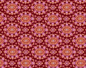 YARD - Amy Butler Fabric, Eternal Sunshine, Cloisonne, Cabernet, cotton quilting fabric