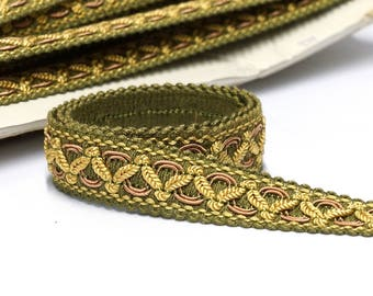 Green Classic Vintage Trim by the Yard - Passementerie Trim - Upholstery Trim - French Passementerie - Home Decor Trim