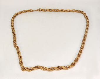 vintage 60s gold tone chunky chain necklace 23 inches