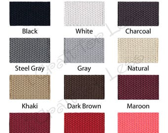 10 REMNANT 10 INCH Pieces of Cotton Webbing - 1.25 Inch Medium Heavy Weight for Key Fobs - Your Color(s) Choice