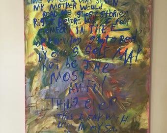 Word Art Painting - ghost stories