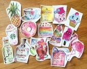 VINYL STICKERS (choose one) illustration, watercolor drawing