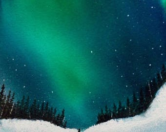 Clarity at Night ORIGINAL WATERCOLOR painting