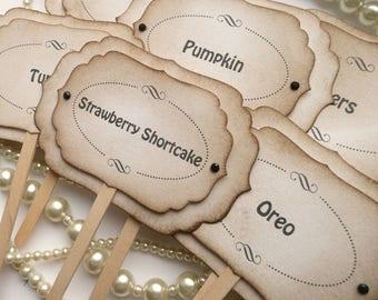 Luxury Candy Buffet Picks - Set of 6 - Custom Wording