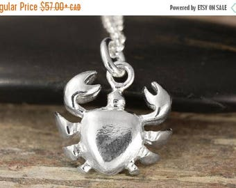 CLOSING SALE Cancer zodiac pendant in sterling silver - cancer necklace, zodiac jewelry, astrology
