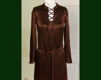 Vintage 1960's Corky Craig Mod Dress Long Bell Sleeves