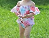 SALE Baby Off-Shoulder Playsuit 0 months through 5t PDF downloadable