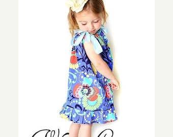 SALE Pillowcase Dress w. Ruffles Sewing Pattern w. halter version