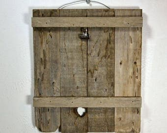 Rustic clipboard photo frame or display