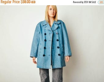ON SALE Vintage Ralph Lauren Denim Coat
